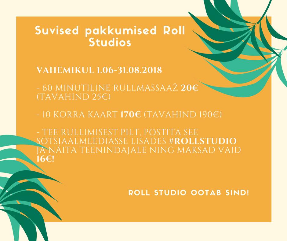 Suvised Rullmassaaži Pakkumised Roll Studios